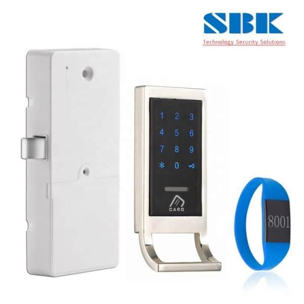 Khóa từ tủ đồ locker mã số LK-EM1106 – Viền bạc